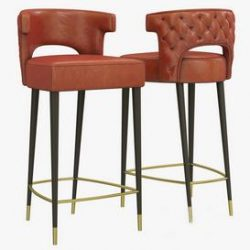 Brabbu Kansas Counter Stool 3d model Download Maxbrute Furniture Visualization