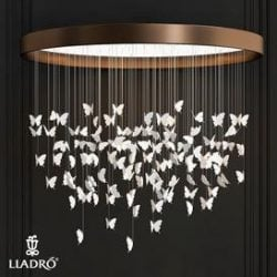 Lote 44 mariposas Chandelier Niagara 3d model Download Maxbrute Furniture Visualization