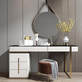 Dressing table K8 3d model Download Maxbrute Furniture Visualization
