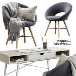 Jusk Kappel-Abbetved 3d model Download Maxbrute Furniture Visualization