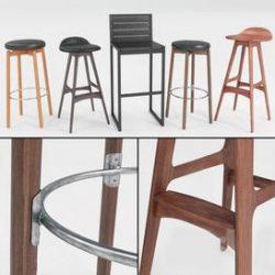bar stool N3 3d model Download Maxbrute Furniture Visualization