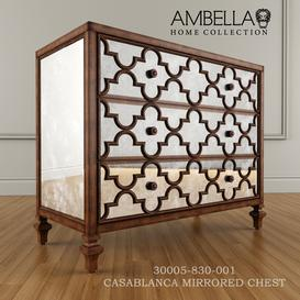 Ambella Home CASABLANCA MIRRORED CHEST 3d model Download Maxbrute Furniture Visualization