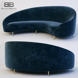 Arc Sofa 3d model Download Maxbrute Furniture Visualization