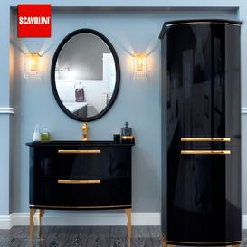 Bathroom furniture Scavolini Black 3d model Download Maxbrute Furniture Visualization