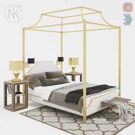 Canopy bed 3d model Download Maxbrute Furniture Visualization