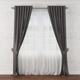Curtain 17 3d model Download Maxbrute Furniture Visualization