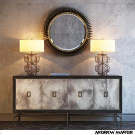 Edward Table Lamp  Rebecca Mirror  Edith Cabinet 3d model Download Maxbrute Furniture Visualization