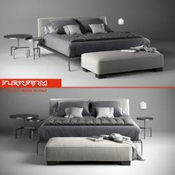 Flexform Lifesteel 3d model Download Maxbrute Furniture Visualization