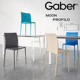 GABER Moon chair Profilo tablee 3d model Download Maxbrute Furniture Visualization