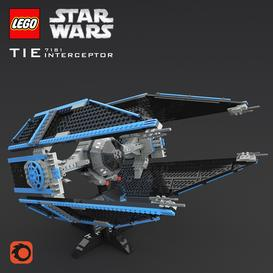 LEGO SW Tie Interceptor 3d model Download Maxbrute Furniture Visualization