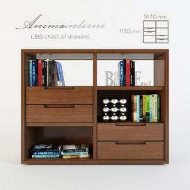 LEO - chest of drawers 3d model Download Maxbrute Furniture Visualization