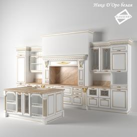 Nick D'Oro's white kitchen 3d model Download Maxbrute Furniture Visualization
