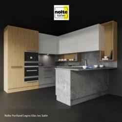 Nolte Portland Legno Glas tec Satin 3d model Download Maxbrute Furniture Visualization