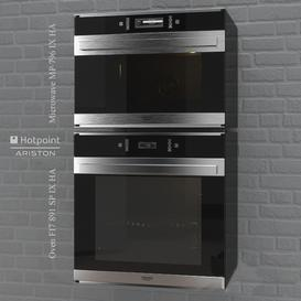 Oven FI7 891 - Microwave MP 796 by HotPoint 3d model Download Maxbrute Furniture Visualization