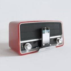 Philips retro radio 3d model Download Maxbrute Furniture Visualization
