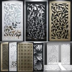 Set of decorative panels-02 3d model Download Maxbrute Furniture Visualization