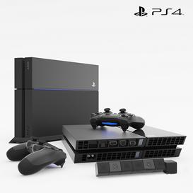 SONY PlayStation 4 3d model Download Maxbrute Furniture Visualization