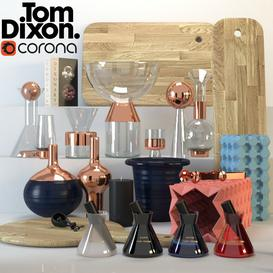 TOM DIXON ACCESSORIES SET 2 3d model Download Maxbrute Furniture Visualization