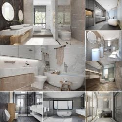 Bathroom vol5 2020 3d model Download Maxbrute Furniture Visualization