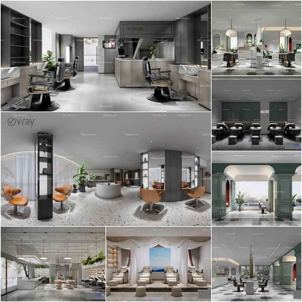 Beauty salon vol1 2020 3d model Download Maxbrute Furniture Visualization