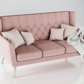 Aria sofa MP 3 seater 3d model 3dsmax  Download -Buy -Maxbrute Furniture