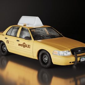 NY Taxi 3d model 3dsmax  Download -Buy -Maxbrute Furniture