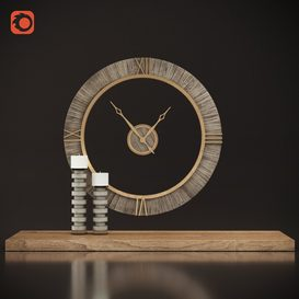 Uttermost Alphonzo Wall Clock 3d model 3dsmax  Download -Buy -Maxbrute Furniture