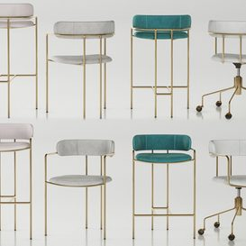 WEST ELM Lenox set 3d model 3dsmax  Download -Buy -Maxbrute Furniture
