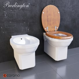 Burlington bidet and toilet 3d model Download Maxbrute Furniture Visualization