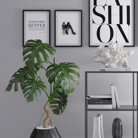 Decoration set 7 3d model Download Maxbrute Furniture Visualization