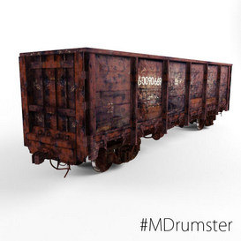 Railway carriage 3d model Download Maxbrute Furniture Visualization