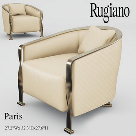 Rugiano Paris armchair 3d model Download Maxbrute Furniture Visualization