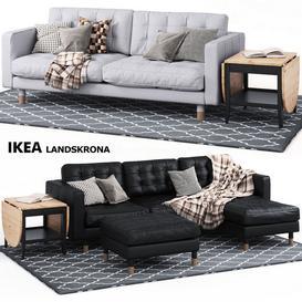 LANDSKRONA SERIES Ikea 3d model Download Maxbrute Furniture Visualization