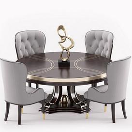 Everly dinning set 3d model Download Maxbrute Furniture Visualization