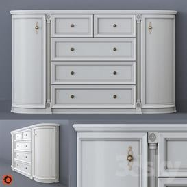 White chest of drawers 3d model Download Maxbrute Furniture Visualization