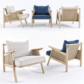 Linen cane chair 3d model Download Maxbrute Furniture Visualization