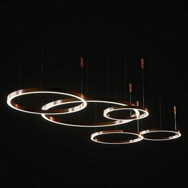 Henge light ring horizontal set2 3d model Download Maxbrute Furniture Visualization